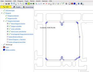 CAD-Editor mit umfangreichen Bearbeitungsmöglichkeiten